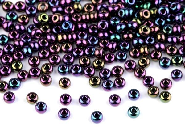 Perlen mit großem Durchzug - violett irisierend