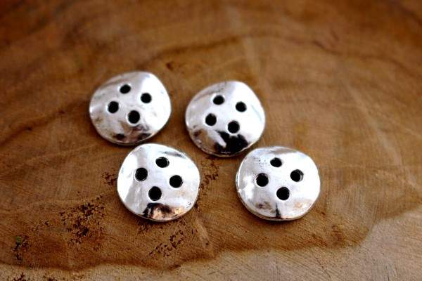 HAMMERED Metallknopf 14 mm