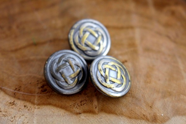 CELTIC KNOT Metallknopf Bronze 15 mm