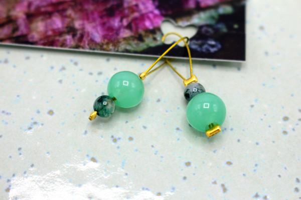 Mint Jade & Moosachat Maschenmarkierer