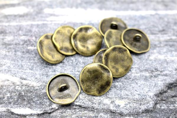 BLACKSMITH Bronzener Metallknopf 18 mm